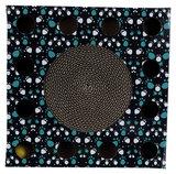 Krabkarton met bal 33x33cm - zwart