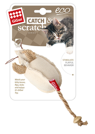 GIGWI - Eco Line Mouse Catch&Scratch with catnip Canvas