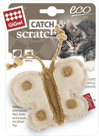 GIGWI - Eco Line Butterfly Catch&Scratch with catnip Canvas