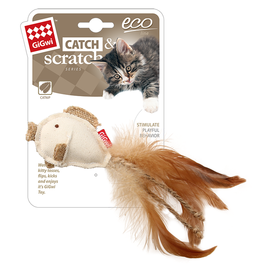GIGWI - Eco Line Fish Catch&Scratch with catnip Canvas/Feather