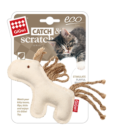 GIGWI - Eco Line Horse Catch&Scratch with catnip Canvas
