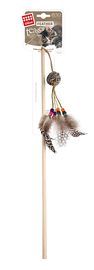 GIGWI - Eco Line Feather Teaser with Rattle Wood/Feather/Rattan
