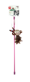 GIGWI - Happy Indians Catwand Monkey w/ feather