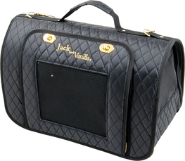 Jack & Vanilla Bizou Pet Carrier Black and Gold - draagtas