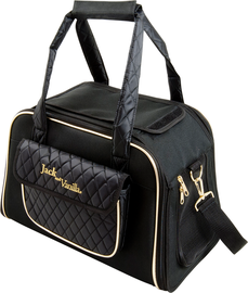 Jack & Vanilla Bizou Pet Bag Black and Gold - schoudertas