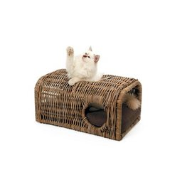 51DN - Palu Cat Lounge - Rattan + Cushion - 65x40x30cm