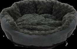 Jack & Vanilla Fleece Basket Roses & Suede Grey - Hondenmand