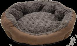 Jack & Vanilla Fleece Basket Roses & Suede Brown - Hondenmand