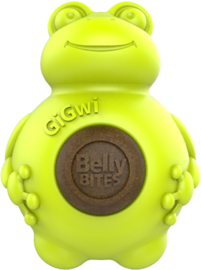 Gigwi Belly Bites Kikker - S - Geel