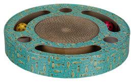 Krabtrommel met speelgoed - diam 33cm - blauw
