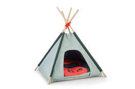 Tipi Tent Mohaki Grijs/Oranje - 50x50x80cm