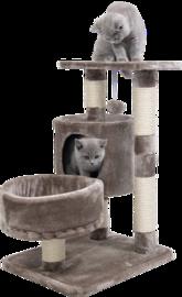 Jack & Vanilla Cat Tree Claire - Bruin - 40x50x70cm - Krabpaal