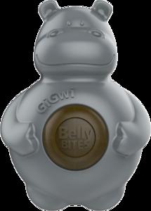 Gigwi Belly Bites Nijlpaard - M/L - Grijs